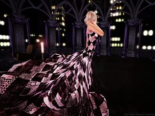 Paris METRO Couture: Harlequin Gown with Mesh Appliers
