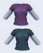 Womens long sleeve t shirt 2 in 1 01