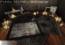 Petite Mort- Macabre MESH set 5 rugs (bagged)