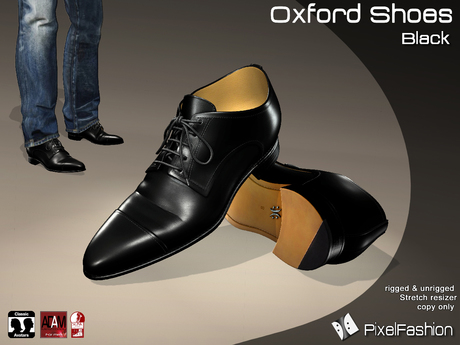 :)(: Oxford Shoes V2 - Black