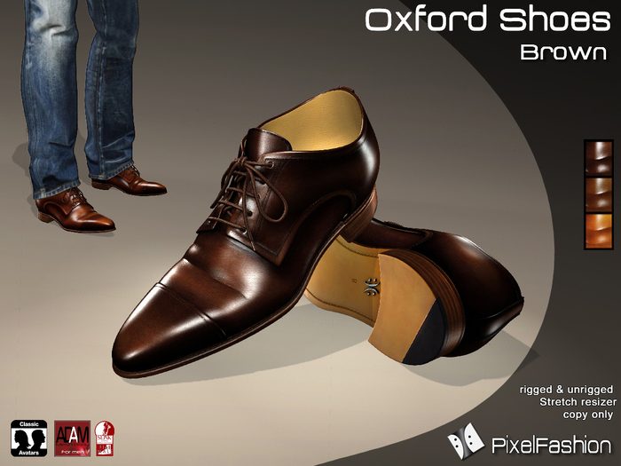 :)(: Oxford Shoes V2 - Brown  - 100% Mesh -