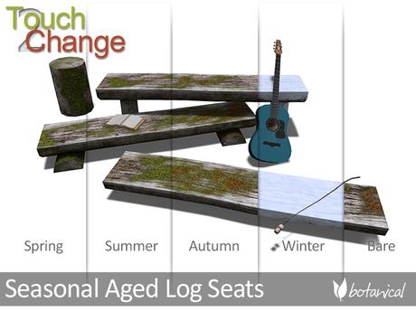 Botanical Seasonal Aged Log Seats