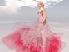 Paris metro couture mon amour gown in red w appliers