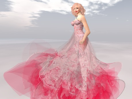 Paris METRO Couture: Mon Amour Gown Red with Appliers