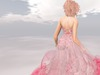 Paris metro couture mon amour gown in red w appliers back