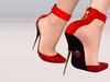 Paris METRO Couture: Mon Amour-Red Belleza & Slink Mesh Shoes