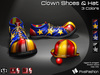 :)(: Clown Shoes & Hat V2- 3 Colors - Halloween shoes