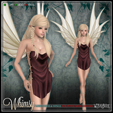 [Wishbox] Whimsy (Petites) - Cocoa Mesh Fairy Dress and Wings for Petite Mesh Avatars