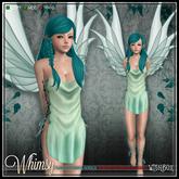 [Wishbox] Whimsy (Petites) - Seafoam Mesh Fairy Dress and Wings for Petite Mesh Avatars