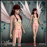 [Wishbox] Whimsy (Petites) - Sunset Mesh Fairy Dress and Wings for Petite Mesh Avatars