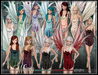 [Wishbox] Whimsy (Petites) - Megapack 11 Colors Mesh Fairy Dress and Wings for Petite Mesh Avatars