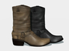 Ladies mid length leather boots 1