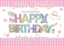 Mesh Letters [ HAPPY BIRTHDAY ]  Full Perm