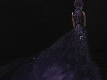 Paris METRO Couture: Shooting Star - Purple Haze Mesh Gown
