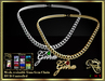 RJ GMA Heart Mesh Necklace - Gem and metal hud included