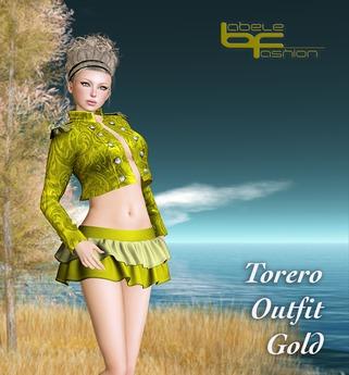 Babele Fashion :: Torero Outfit Gold