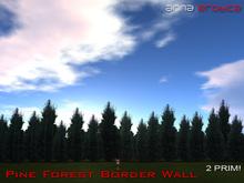 Anna Erotica - Pine Forest Border Wall - 2 Prims!  (box)
