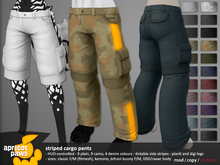 AP: Striped Cargo Pants for Kemono, Bifrost, DSD/Raawr, Classic Fitted Mesh