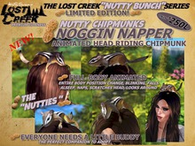 "Lost Creek Nutty Chipmunk ""Noggin Napper"" *WEARABLE ANIMATED CHIPMUNK*"