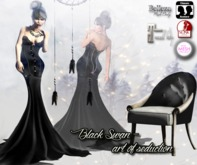 ! Black Swan ! Art of seduction - fitted mesh gown