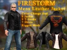 DEMO Men's Firestorm Branded Leather Jacket