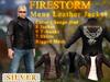 Men's Firestorm Branded Leather Jacket - Silver Sponsorship