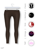 Gawk! Brown Cotton Leggings incl. Appliers for #TheMeshProject, Maitreya Lara, Slink Physique & Omega System