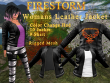Woman's Firestorm Branded Leather Jacket - 250L Sponsorship