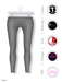 GAWK! Grey Cotton Leggings | BoM & Appliers for Maitreya, Slink Physique, TMP & Omega System