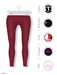 GAWK! Raspberry Cotton Leggings | BoM & Appliers for Maitreya, Slink Physique, TMP & Omega System