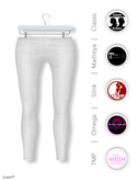 Gawk! White Cotton Leggings incl. Appliers for #TheMeshProject, Maitreya Lara, Slink Physique & Omega System