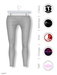 GAWK! Light Grey Cotton Leggings | BoM & Appliers for Maitreya, Slink Physique, TMP & Omega System