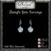 Beloved Jewelry : Dangle Gem Earrings (Blue Diamond)