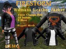 Womens Firestorm Leather Jacket DEMO