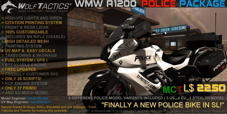 Police Bike - Please Review!
