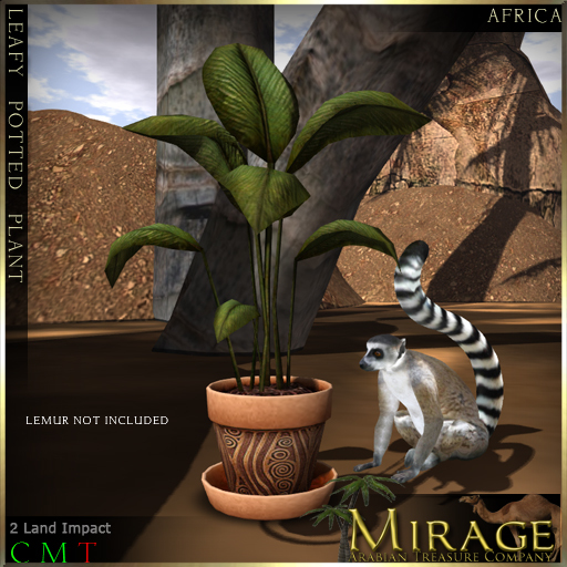 =Mirage= Leafy Potted Plant - Africa