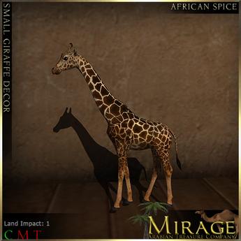 =Mirage= Small Giraffe Decor