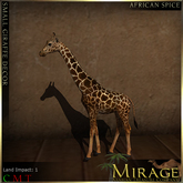 =Mirage= Small Giraffe Decor