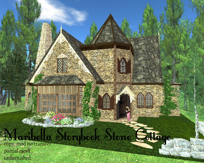 Maribella's Storybook Stone Cottage(123LI, 21x29)