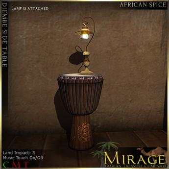 =Mirage= Djembe Side Table