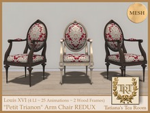 "TTR-Louis XVI ""Petit Trianon"" Arm Chair REDUX"