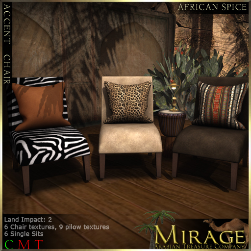 =Mirage= Accent Chair - African Spice