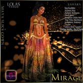 :KR: Maya Silks Gown - Wine