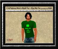 Cele'Sations Men's Mesh Tee ~ Kiss Me I'm Pretending to be Irish