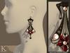 (Kunglers) Cerys earrings - Black