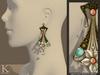 (Kunglers) Cerys earrings - Golden white