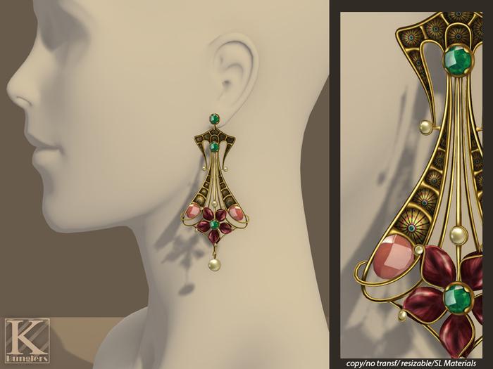 (Kunglers) Cerys earrings - Golden rose