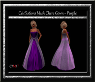 Cele'Sations Chere Mesh Gown ~ Purple [ Maitreya Belleza TMP Eve Slink ]