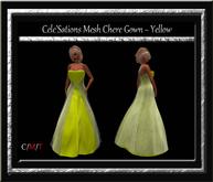 Cele'Sations Chere Mesh Gown ~ Yellow [ Maitreya Belleza TMP Eve Slink]