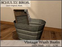 Old Wash Basin w/ board + towel - 1 LI
